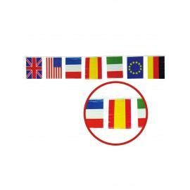 Striscione 50 M Bandiere Internazionali 20 X 30 Cm