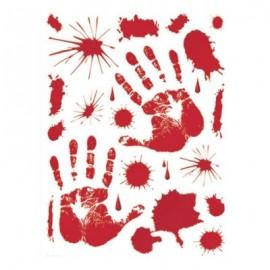 Set Adesivi Sangue 30 X 39 Cm