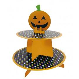 Vassoio per Cupcake Due Piani Zucca 25 cm