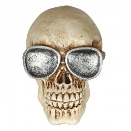 Cranio Con Occhiali In Resina 11 Cms