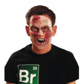 Maschera Mezzo Volto da Zombie in Lattice