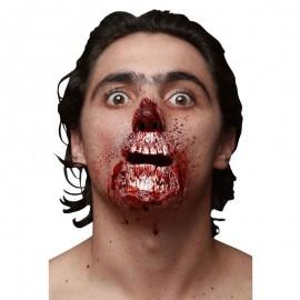 Cicatrice Bocca e Mento Insanguinati Zombie