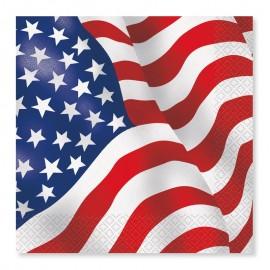 16 Tovaglioli con Bandiera Americana