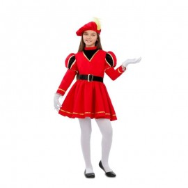 Costume da Paggio Rosso con Cintura