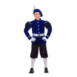 Costume da Paggio Blu con Cintura