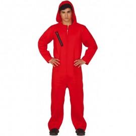 Costume Detenuto Cappuccio Rosso Adulto