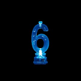 4 Candele e Numero 6 Intermittente