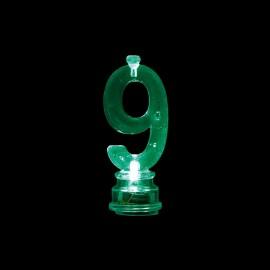 4 Candele e Numero 9 Intermittente