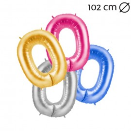 Palloncino Numero 0 Foil 102 cm