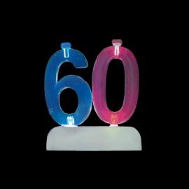 4 Candele e Numero 60 Intermittente