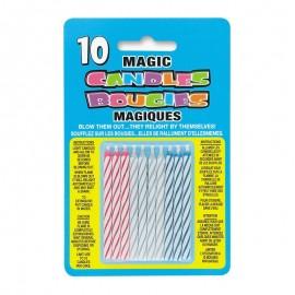 10 Candele Magiche con Righe