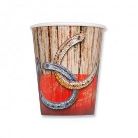 8 Bicchieri Rodeo Western 266 ml
