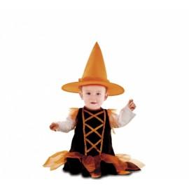 Costume da Streghetta Arancione con Cappello