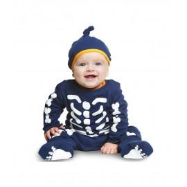 Costume da Scheletro in Cotone per Neonato