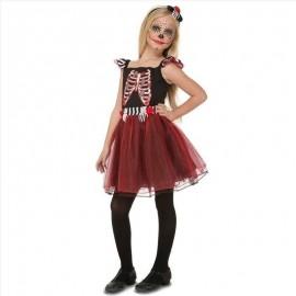 Costume da Scheletro di Tulle per Bambina