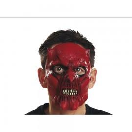 Mezza Maschera da Diavolo con Denti Aguzzi