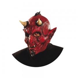 Maschera da Diavolo con Corna e Cresta