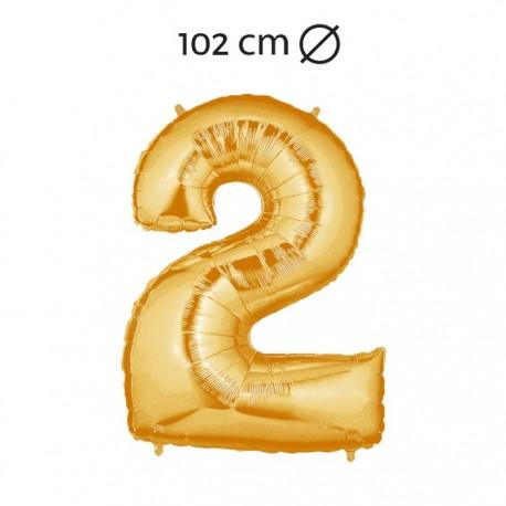 Palloncino Numero 2 Foil 102 cm