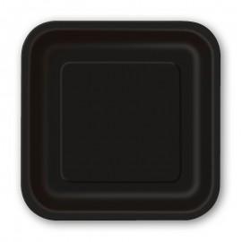 14 Piatti Carta Quadrati 23 cm