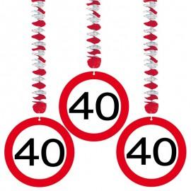 3 Decorazioni Appese 40 Traffic
