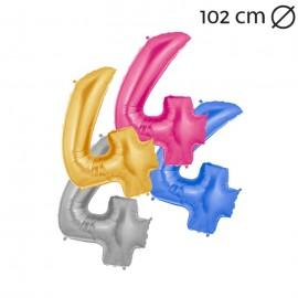 Palloncino Numero 4 Foil 102 cm