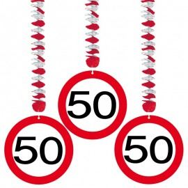 3 Decorazioni Appese 50 Traffic