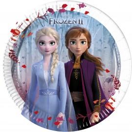 8 Piatti Frozen 2 di Carta 20cm