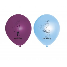 8 Palloncini Frozen 2 di Lattice 28 cm
