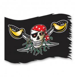 Bandiera Teschio Pirata 90 cm x 60 cm