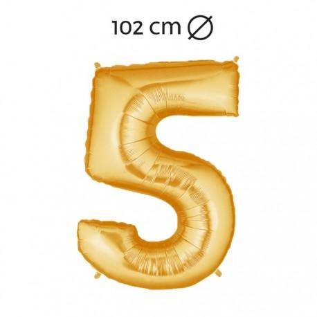 Palloncino Numero 5 Foil 102 cm