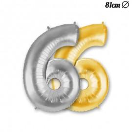 Palloncino Numero 6 Foil 81 cm