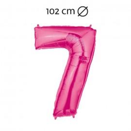 Palloncino Numero 7 Foil 102 cm