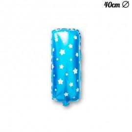 Palloncino Lettera I Foil Azzurro con Stelle 40 cm