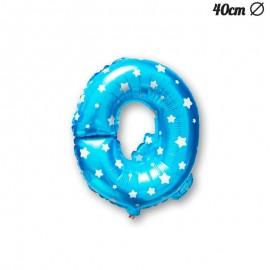 Palloncino Lettera Q Foil Azzurro con Stelle 40 cm