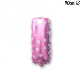 Palloncino Lettera I Foil Rosa con Cuori 40 cm