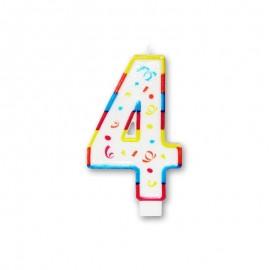 Candela Grande Colorata Numero 4