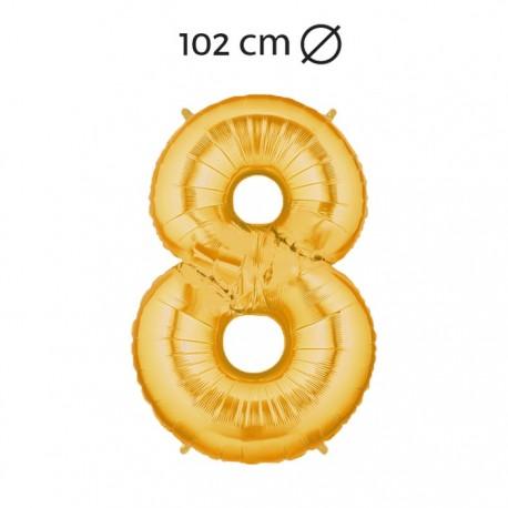 Palloncino Numero 8 Foil 102 cm