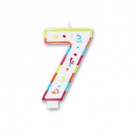 Candela Grande Colorata Numero 7