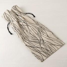 6 Sacchetti di Cotone con Linee Nere 15*35 cm