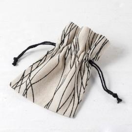 24 Sacchetti di Cotone con Linee 10*13 cm