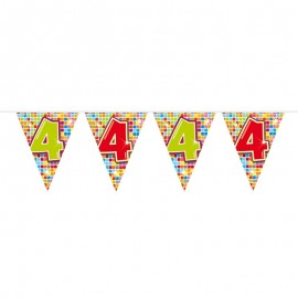 Bandierine Colorate con Numero 4