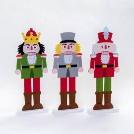 3 Figure di Feltro Soldatini 44 cm