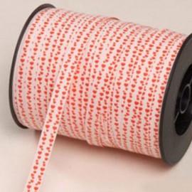 Nastro Rosso e Bianco Mini Cuori Rossi 10 mm x 250 m
