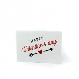 5 Targhette Happy Valentines 5 x 3,5 cm