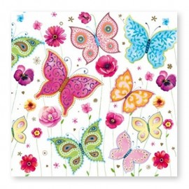 20 Tovaglioli con Farfalle 33 cm