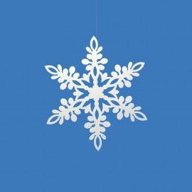 10 Fiocchi di Neve forma Stella 11 cm