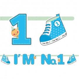 Bandierine I'm Nº1 Bambino 16 X 110 cm