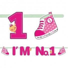 Bandierine I'm Nº1 Bambina 16 x 110 cm