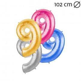Palloncino Numero 9 Foil 102 cm