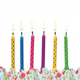 6 Candele per Compleanno con Puntini